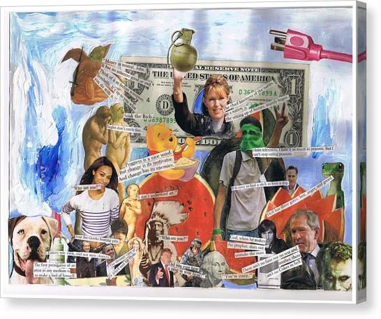 George W. Bush Canvas Print - Ther Ain't No Cokes In Hell by Frank Zabohonski