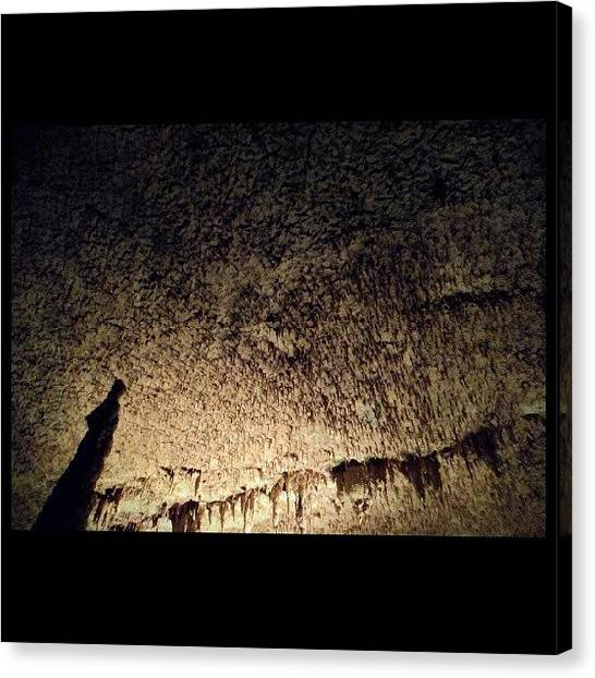 Stalagmites Canvas Print - There Were Literally Thousands Of Tiny by Clifford McClure