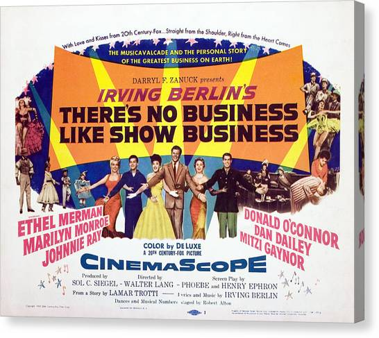 Dan Connor Canvas Print - Theres No Business Like Show Business by Everett