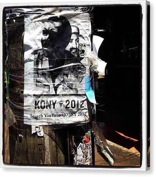 Berlin Canvas Print - They Are Looking For Kony In Costa Rica by Berlin Green