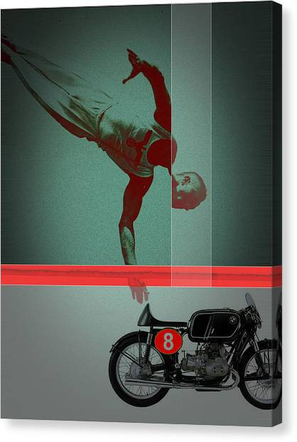 Acrobatic Canvas Print - They Crossed That Line by Naxart Studio
