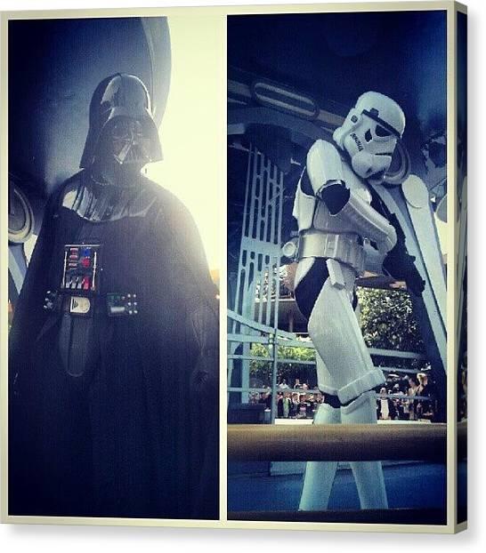 Jedi Canvas Print - They Know I'm On The Dark Side ;) by Nicole Warmack