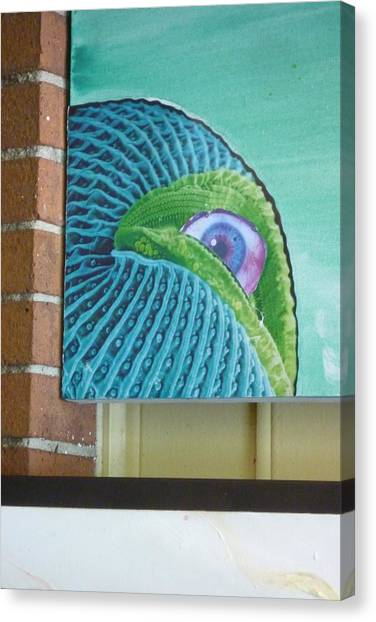 Thing Outside A Window Canvas Print