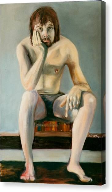 Thinking Guy Canvas Print by Olin  McKay