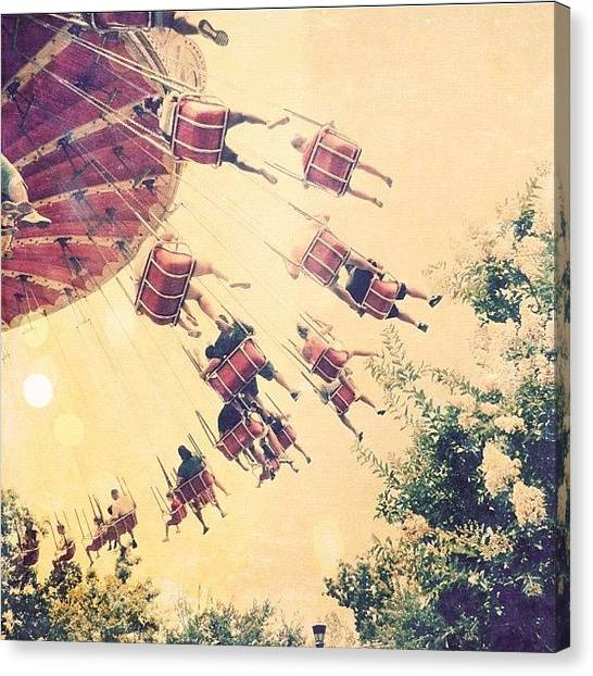 Swing Canvas Print - This☝ = One Of The Best Rides Of All by Traci Beeson