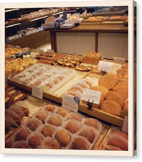 Bakeries Canvas Print - This Amount Of Bread Is A Crime by Michelle Kay