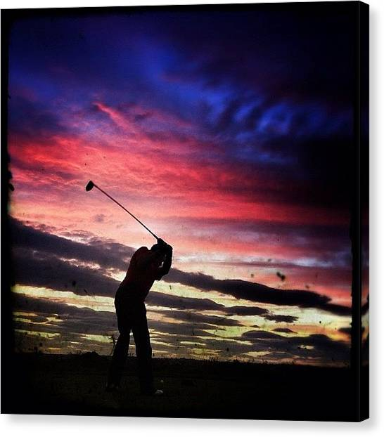 Golfers Canvas Print - This Could Go Anywhere... #red_mm by Robert Campbell