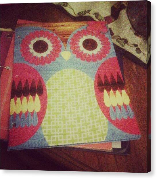 Owls Canvas Print - This Cute Little Folder I Found At by Madeline Vega