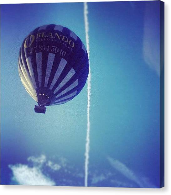 Balloons Canvas Print - This Guy Was Drifting Above Us This by Jeff Graham