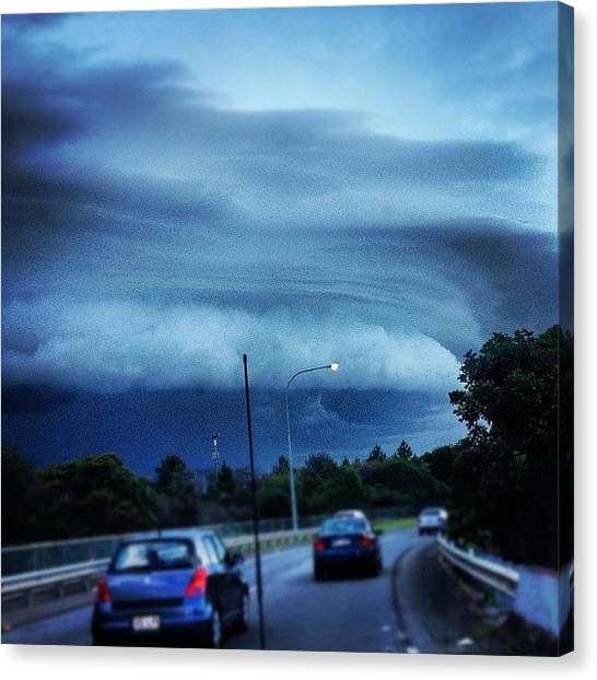 Australian Canvas Print - This Is An Amazing Storm Cloud by Steve Guy