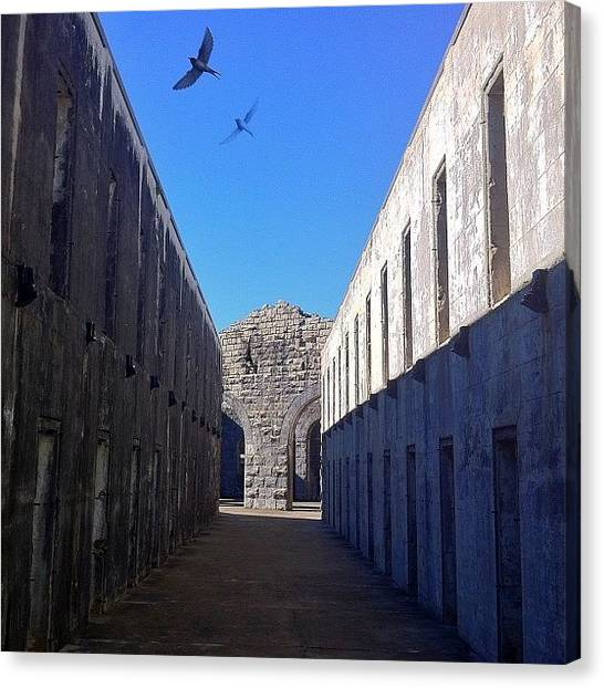 Swallows Canvas Print - This Is An Old #jail Built On A by Brett Starr