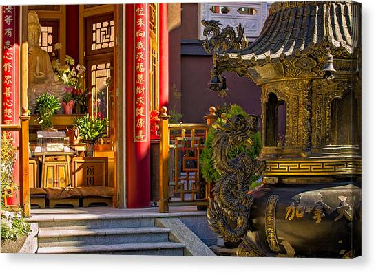 Yen Canvas Print - This Is British Columbia No.62 - Ling Yen Mountain Temple Canada by Paul W Sharpe Aka Wizard of Wonders