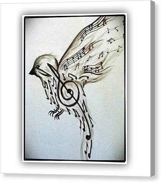 Songbirds Canvas Print - This Is Cool! #songbird #music #bird by Robb Needham