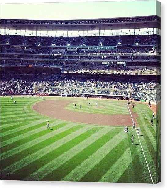 Minnesota Twins Canvas Print - This Is Where I Spent My Day :) by Jen Hernandez