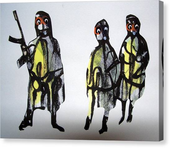 This Masquerade Canvas Print by Aquira Kusume