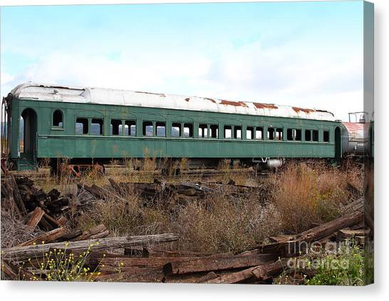 This Old Train Has Seen Better Days . 7d8994 Canvas Print by Wingsdomain Art and Photography