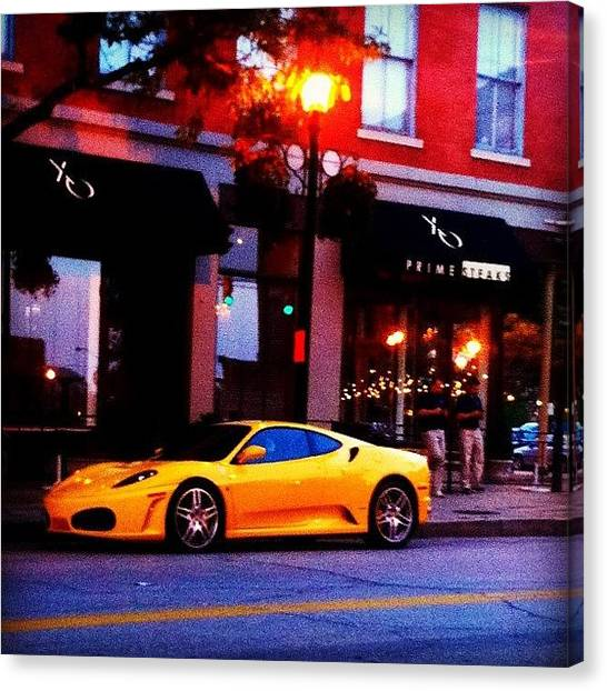 Ferrari Canvas Print - This Person Is Clearly Not From Around by R Harvz