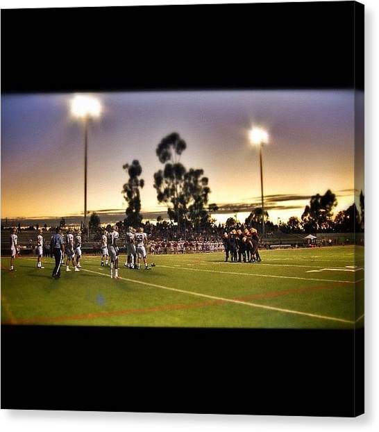 Gridiron Canvas Print - This Shot Provided By My Sony Ex3, From by Loghan Call