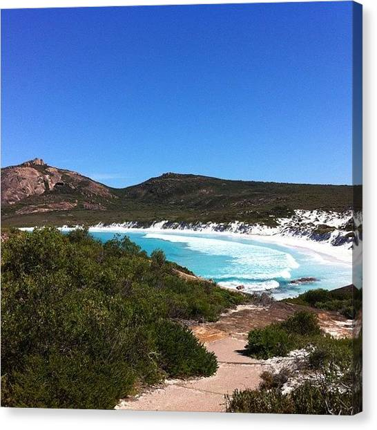 White Sand Canvas Print - Thistle Cove by Bonnie Mulholland