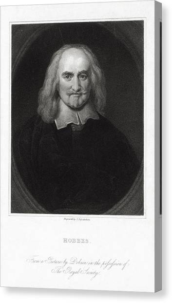 Atheism Canvas Print - Thomas Hobbes, English Philosopher by Humanities & Social Sciences Librarynew York Public Library