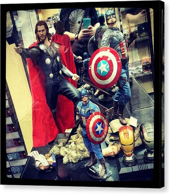 Hammers Canvas Print - #thor #captain #america #shield #hammer by Bryan Thien
