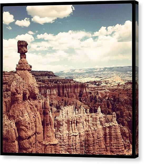 Wilderness Canvas Print - Thor Stone Bryce Canyon by Isabel Poulin