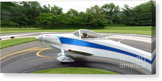 Prop Planes Canvas Print - Thorp T-18 Fisheye View by Paul Ward