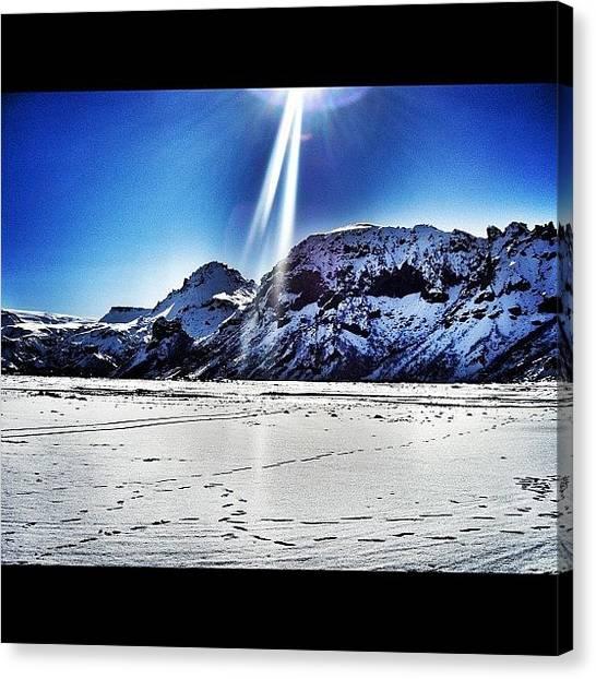 Glaciers Canvas Print - Thor's Garden #thor #iceland #glacier by Chris Barber