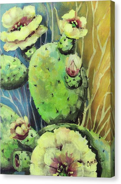 Those Bloomin' Cactus Canvas Print