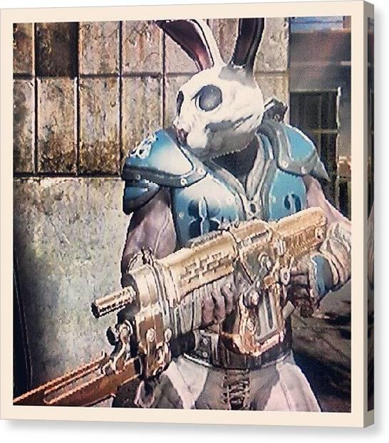 Xbox Canvas Print - Thrashball 'easter Bunny' Cole by Dan Slade