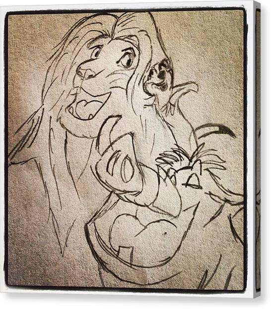 Lions Canvas Print - Three Amigos✨🐗 #lionking #simba by B C