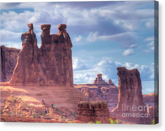 Three Gossips Canvas Print