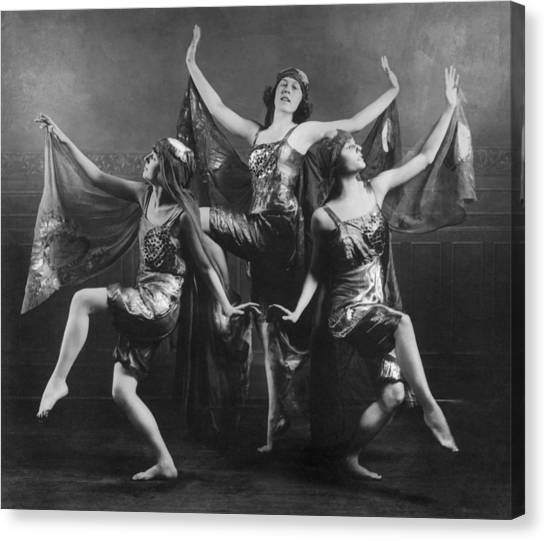 Three Graces Canvas Print by Archive Photos