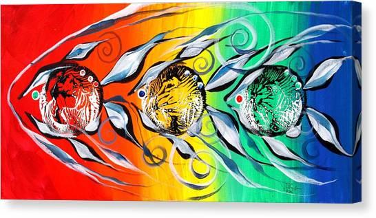 Three In A Row ... Three Canvas Print