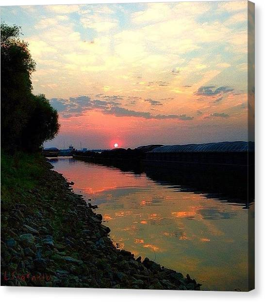 """Sunset Horizon Canvas Print - """"three Things Cannot Be Long Hidden: by Lester Starnuto"""