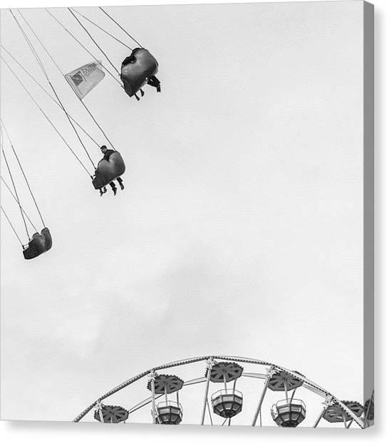 Swing Canvas Print - Three Walking Songs By Laurie Anderson by Andy Kleinmoedig