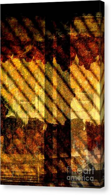 Through Glass And Metal Canvas Print