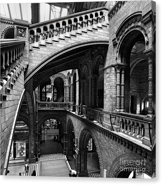 Natural History Museum Canvas Print - Through The Arches by Martin Williams