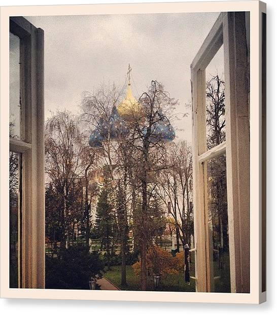 Orthodox Art Canvas Print - Thru The Window #instagramers #followme by Denis Makhanko