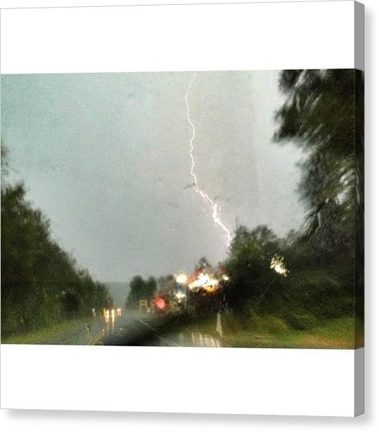 Lightning Canvas Print - Thunder Rolls #weather #lightning by Elza Hayen