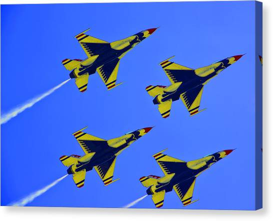 Thunderbirds Ascending Canvas Print by Michael Wilcox