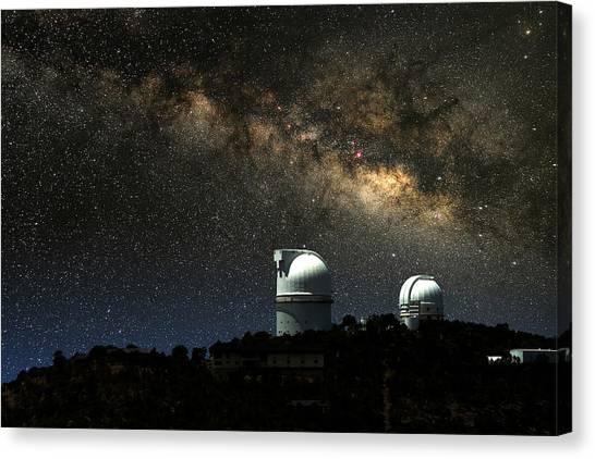 The University Of Texas Canvas Print - Thundering Milky Way by Larry Landolfi