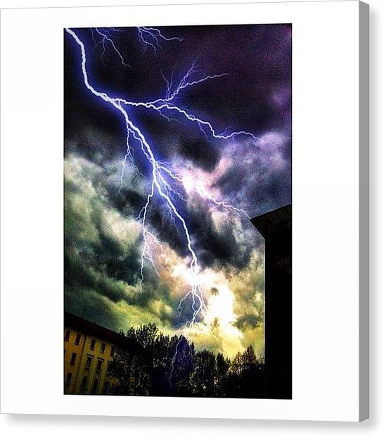 Lightning Canvas Print - Thunderstorm by Ale Romiti 🇮🇹📷👣