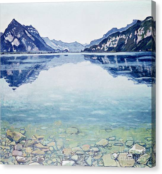 Mountains Canvas Print - Thunersee Von Leissigen by Ferdinand Hodler