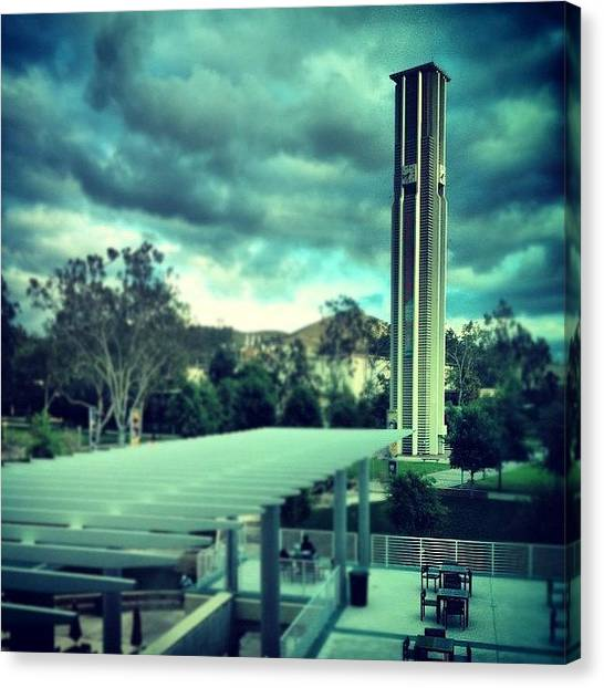 Uc Riverside Canvas Print - Thursday Night Training #ucr by Adrian Cazares
