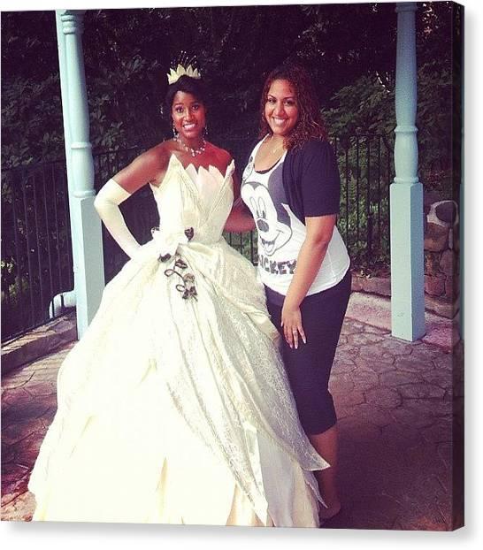 Princess Canvas Print - Tiana! Finally A Black Princess 👑 by Ashley Shine