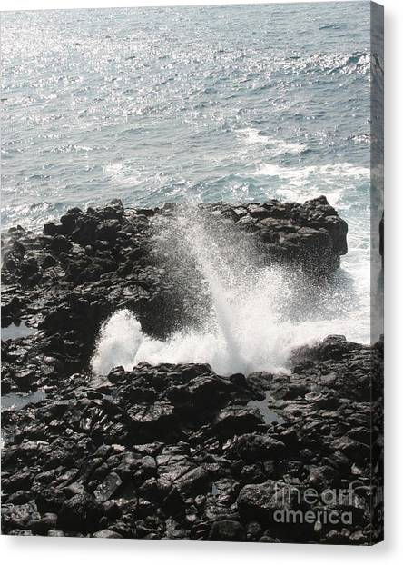 Tidal Spike Canvas Print by Anthony Trillo