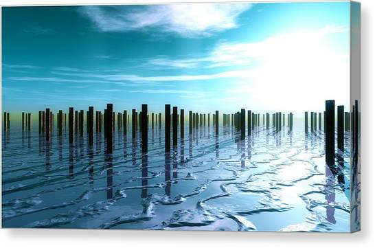Tide Is Out... Canvas Print
