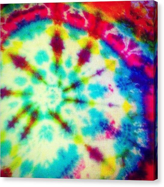 Cool Canvas Print - Tiedye by Katie Williams