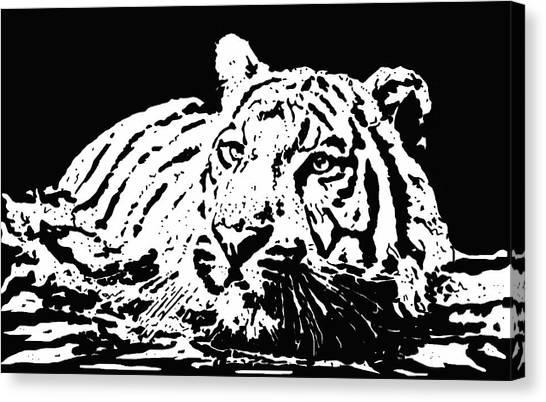 Tiger 2 Canvas Print by Lori Jackson